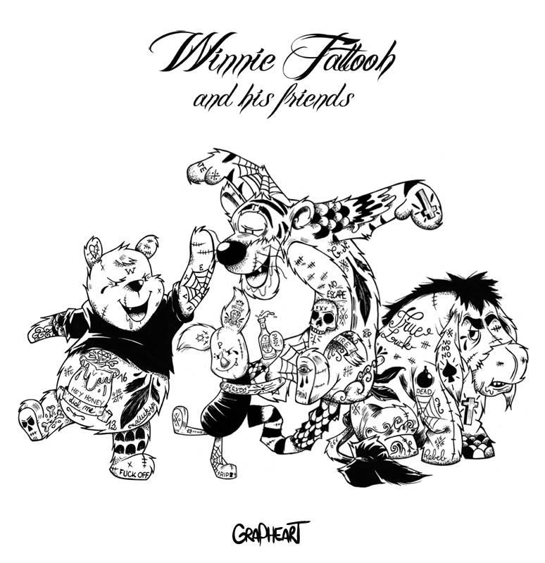 Винни Пух и его друзья по версии GRAPHEART