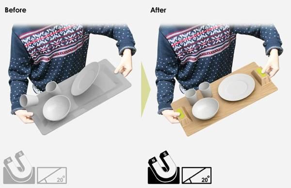 Столик для завтраков от Ryan Jongwoo Choi  Magic Tray
