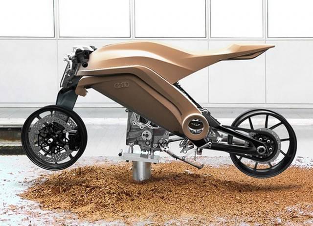 Футуристичный мотоцикл Audi Motorrad Concept