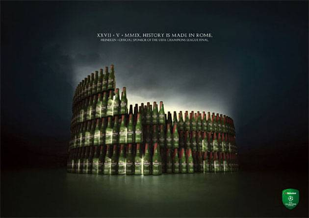 heineken-history-is-made-in-rome-creative-unique-advertisements