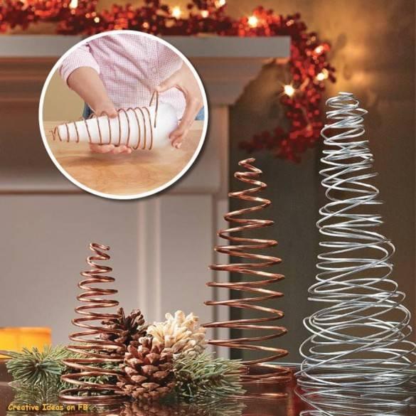 Рождественская елка из проволки