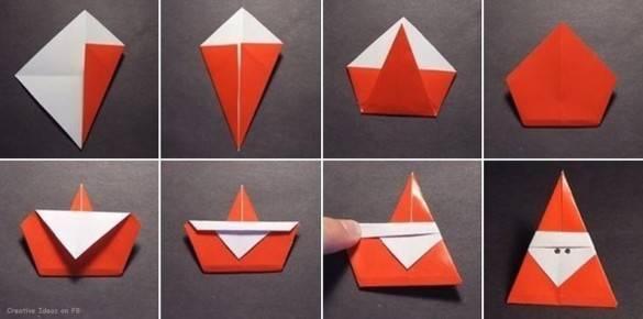 Рождественская елка из оригами