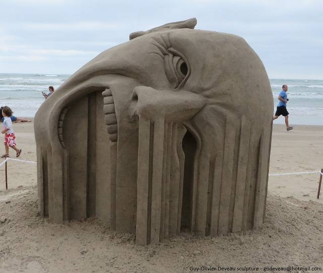 Incredible Sand Sculptures by Guy Olivier Deveau