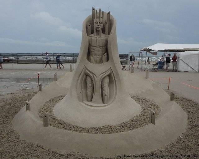 Sand Sculptures by Guy Olivier Deveau