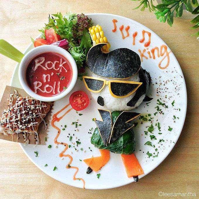 Элвис Пресли из еды