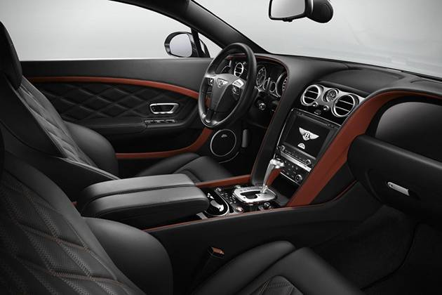 Легендарное купе от Bentley - Continental GT Speed 2015 интерьер в коже