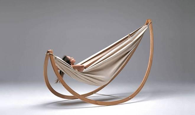 Дизайнер Georg Bechter представил кресло-гамак Woorock Hammock Swing