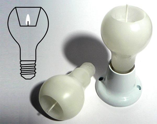 свечка в виде лампочки