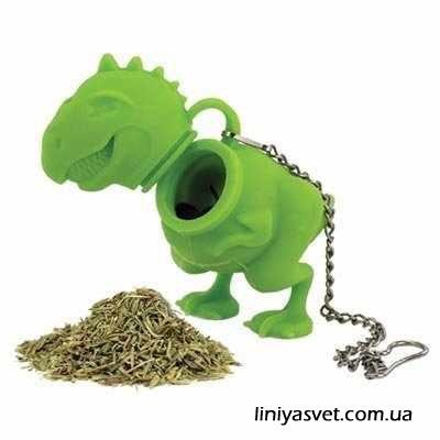 заварник для чая - зеленый динозавр
