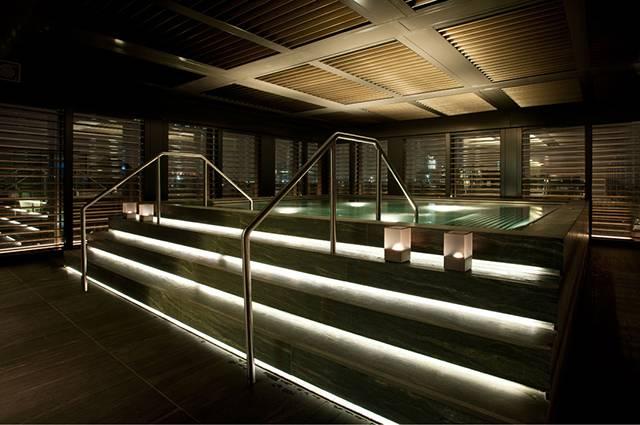 Power of light in Spa in Armani Hotel Milano