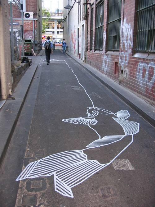 Работы из скотча tape street