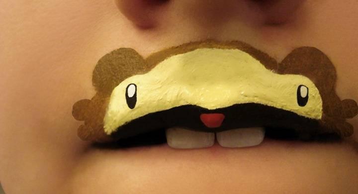 Боди-арт губ