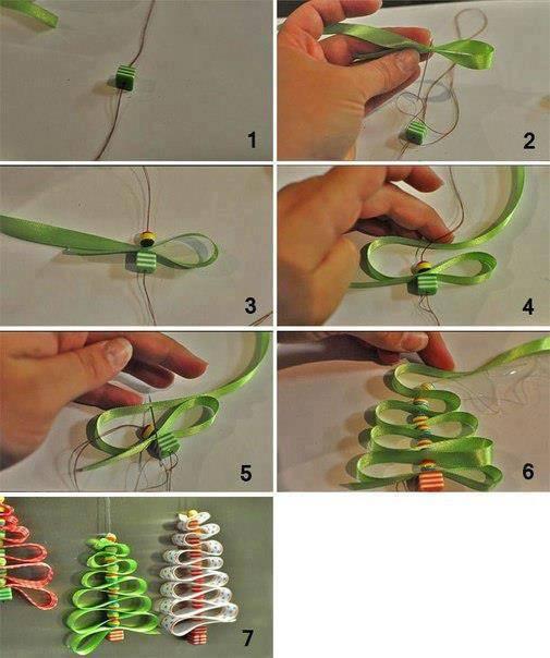 Рождественская елка из упаковочной ленты