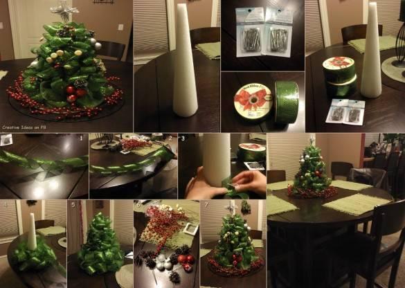 Рождественская елка из ленты