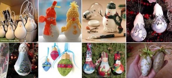 Пример игрушек из лампочек