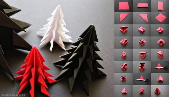 Елки оригами