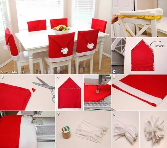 Чехлы новогодние на стулья