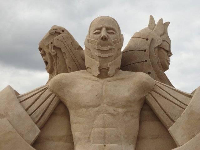 Песочный скульптор Гай Оливьера-Дево