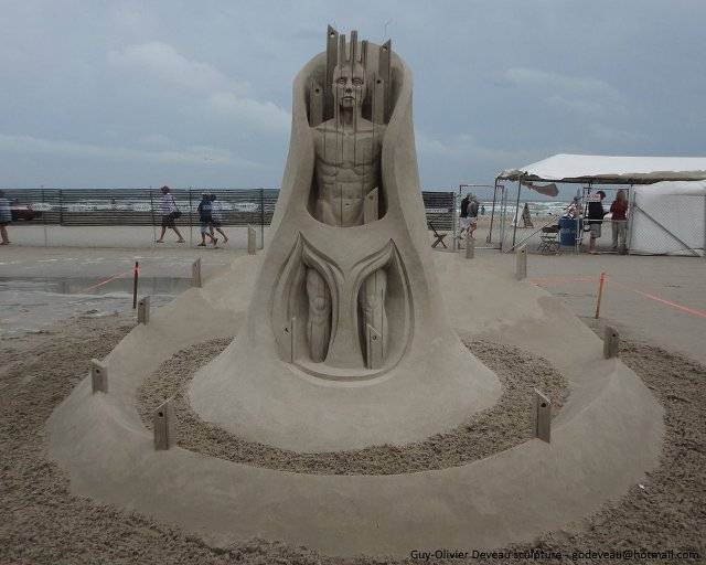 Sand Sculptures by Guy Olivier Deveau