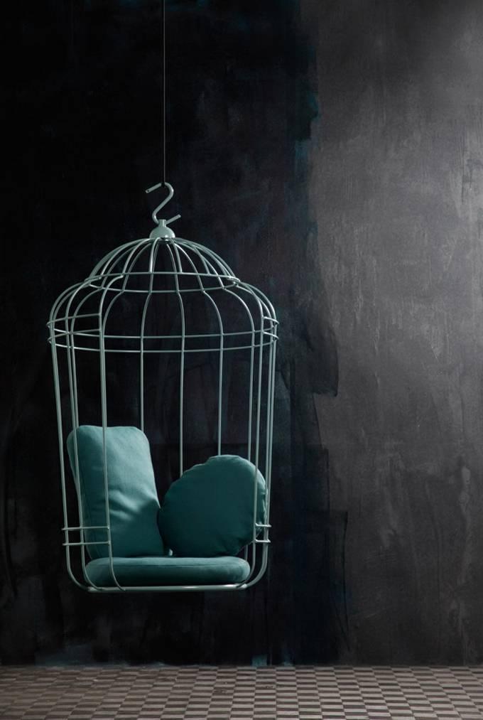 подвесное потолочное кресло от голландских дизайнеров