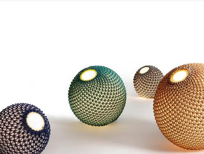 Вязаные светильники от Ariel Zuckerman, Adva Bruner и Oded Sapir
