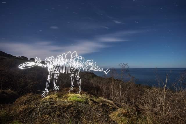 фото stegosaurusbythesea художник Даррен Пирсон