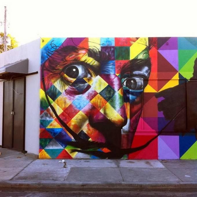Уличный художник Эдуардо Кобра