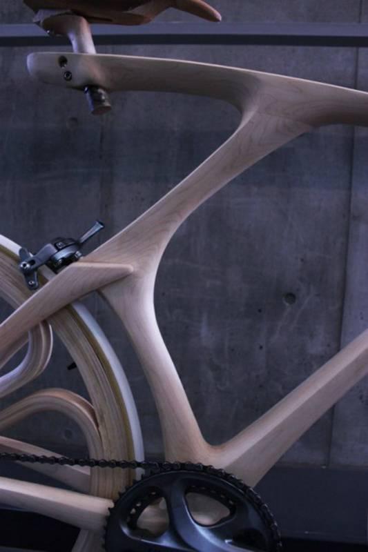 Дизайнерский велосипед из дерева