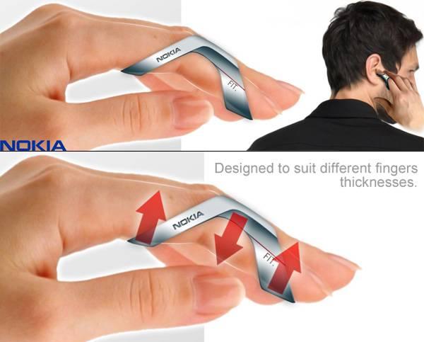 Концепт напалечного мобильного телефона Nokia FIT